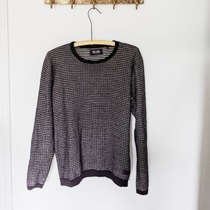 Only & sons | black and White knit Crew neck 🍁